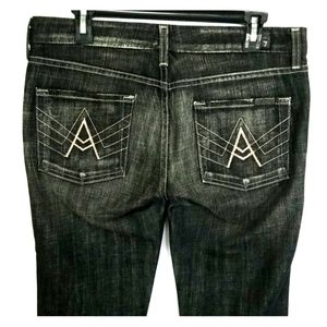 7 FOR ALL MANKIND Black A-Pocket Jeans Sz. 30
